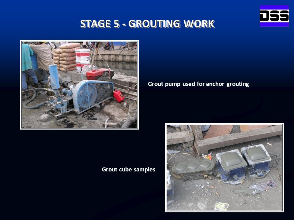 Grout pump used for anchor grouting