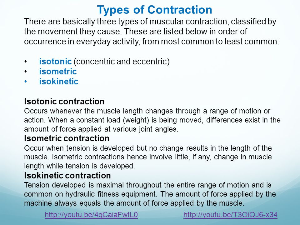 Types of Contraction