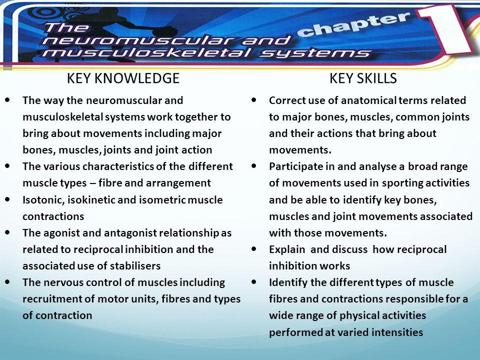 KEY KNOWLEDGE KEY SKILLS Key Knowledge and skills
