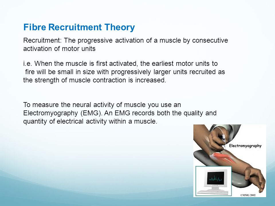 Fibre Recruitment Theory