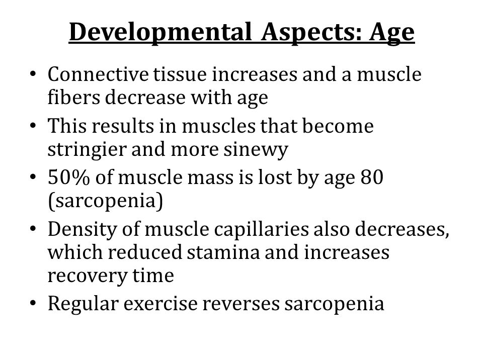 Developmental Aspects: Age