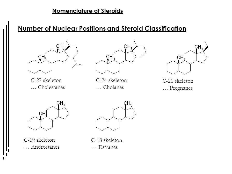 Number of Nuclear Positions and Steroid Classification