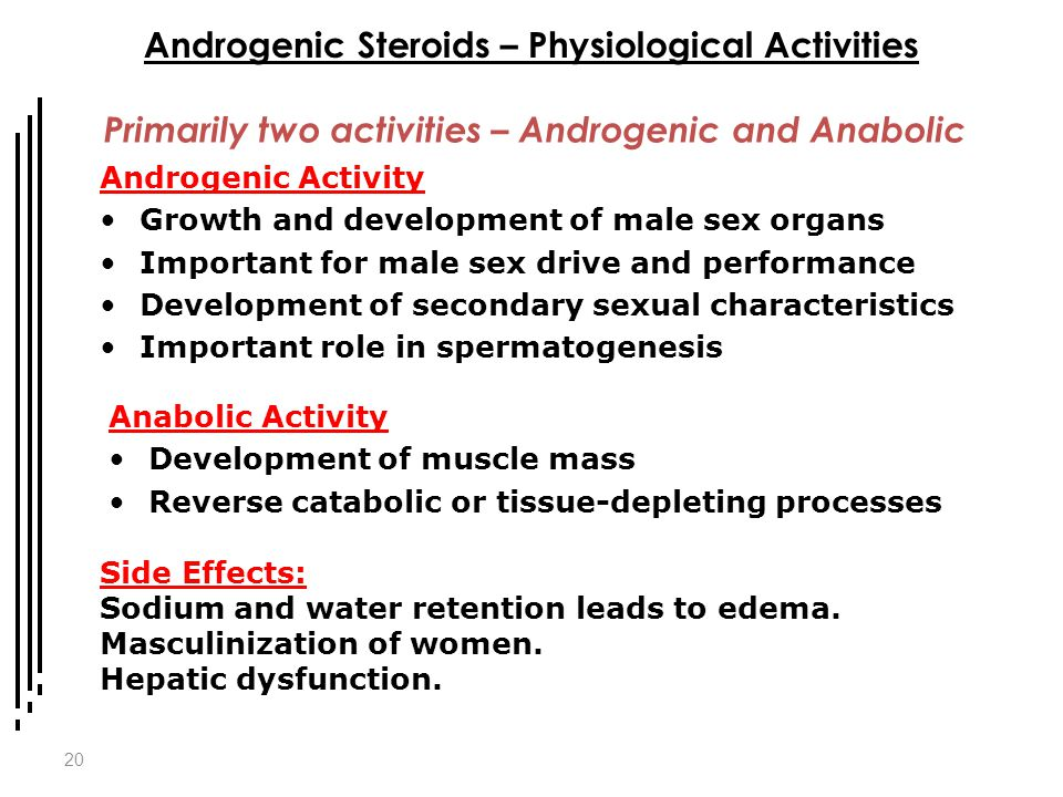 Androgenic Steroids – Physiological Activities
