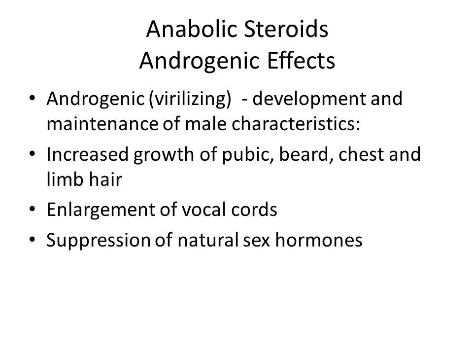 Anabolic Steroids Androgenic Effects