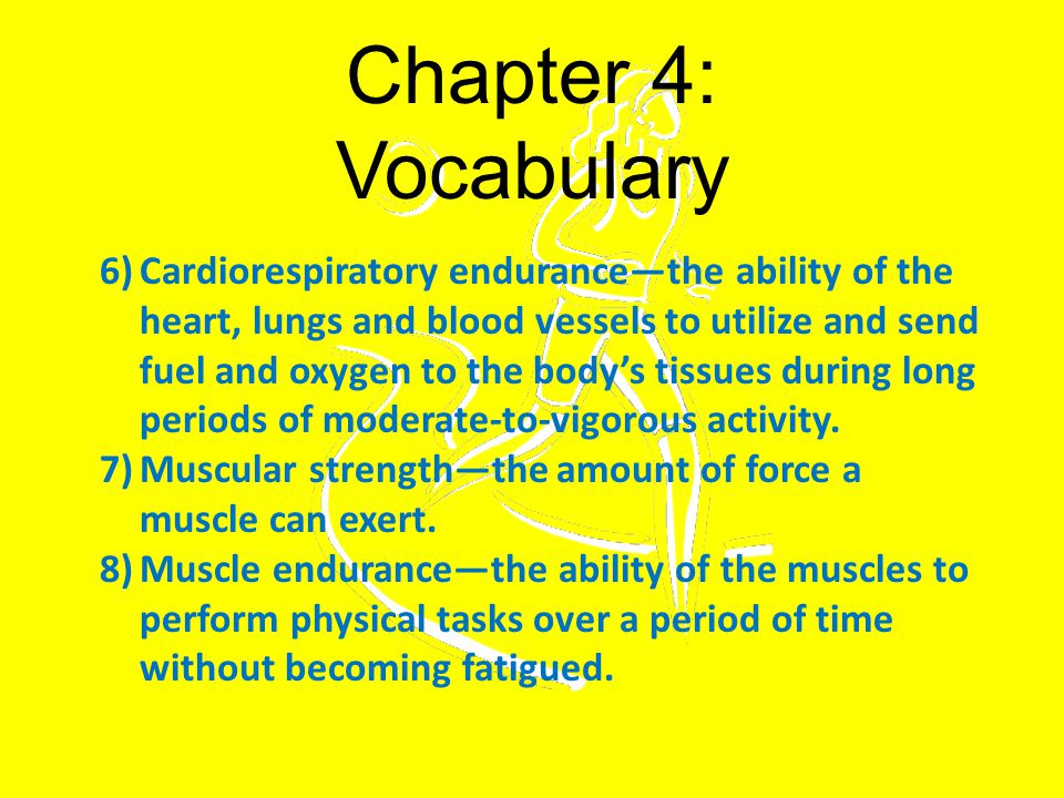 Chapter 4: Vocabulary