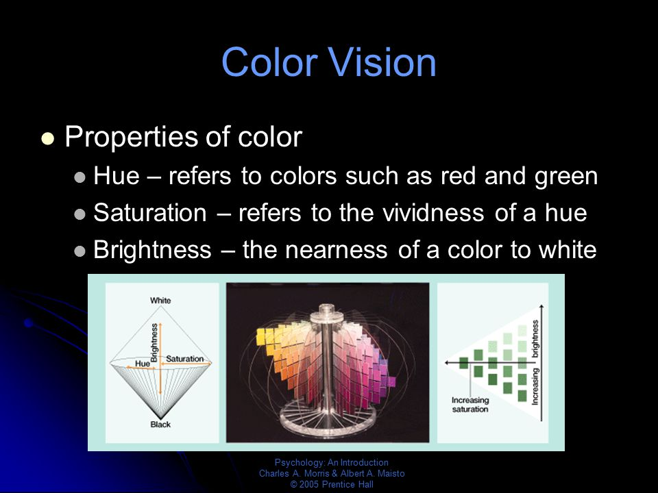 Color Vision Properties of color