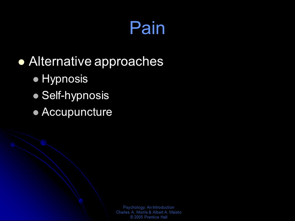 Pain Alternative approaches Hypnosis Self-hypnosis Accupuncture