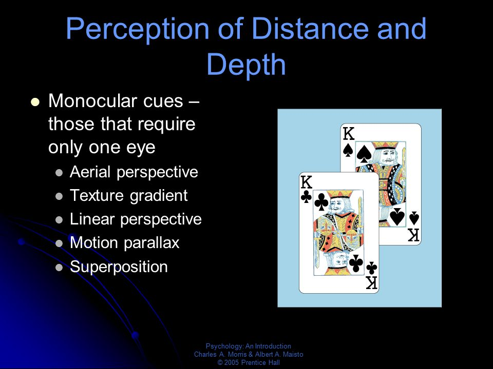Perception of Distance and Depth