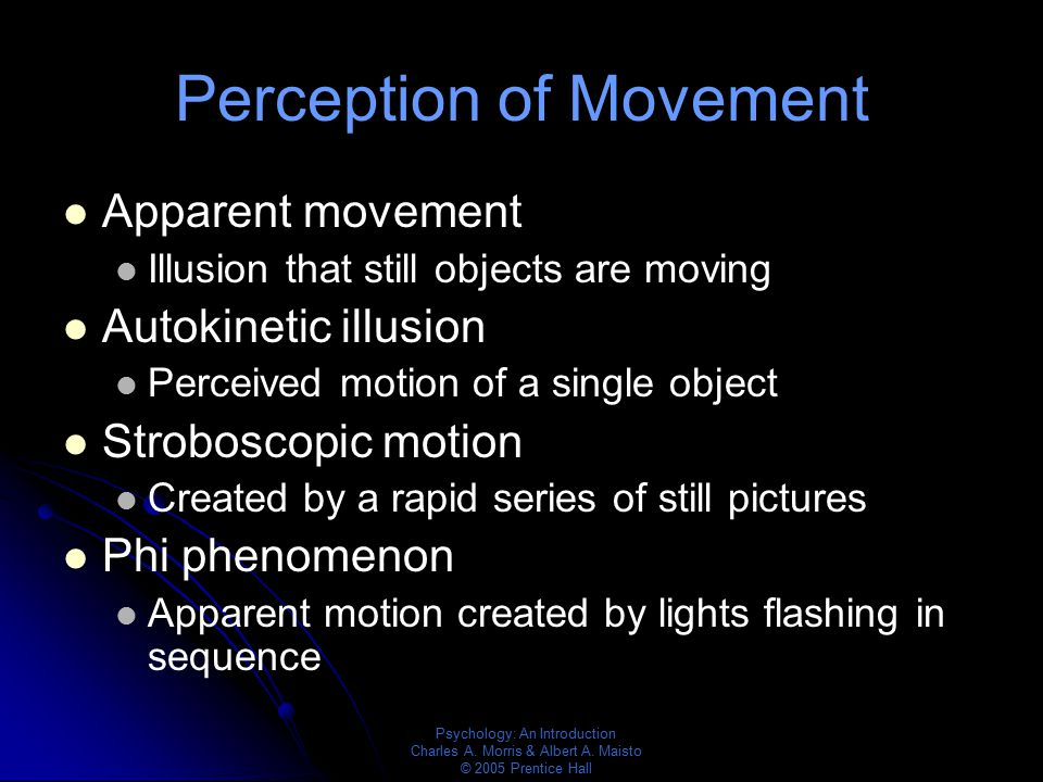 Perception of Movement