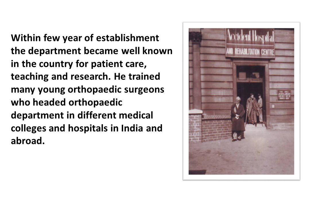 Within few year of establishment the department became well known in the country for patient care, teaching and research.