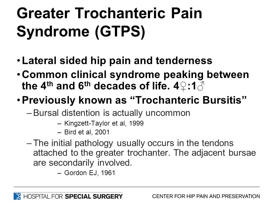 Greater Trochanteric Pain Syndrome (GTPS)