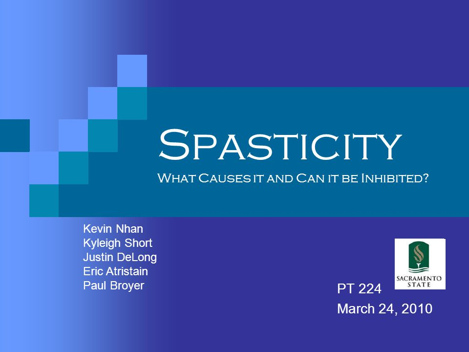 Spasticity What Causes it and Can it be Inhibited