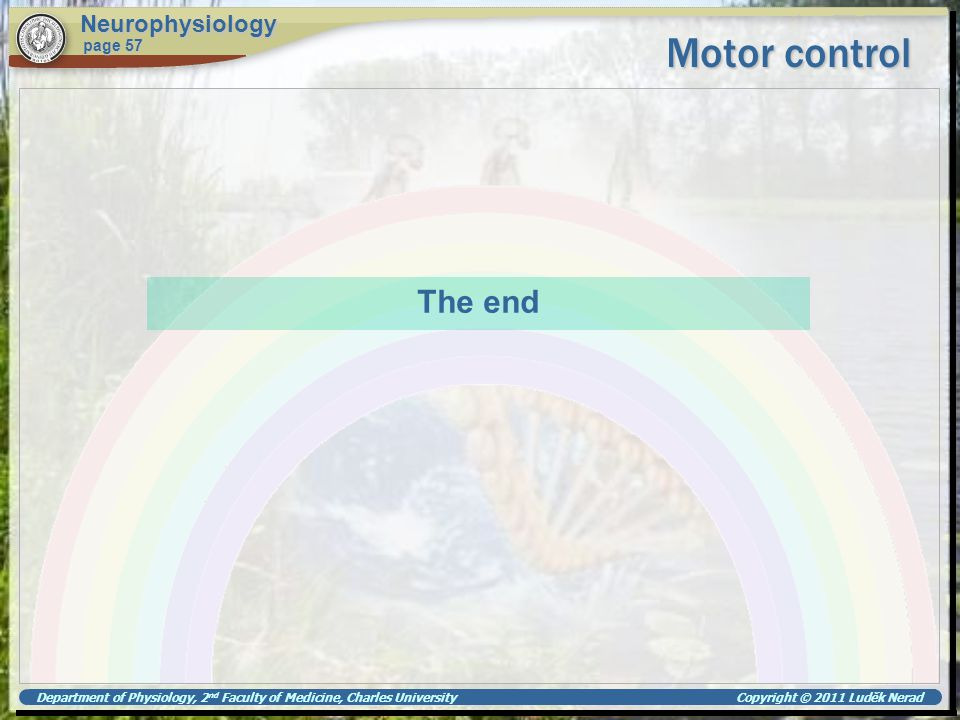 Motor control The end Neurophysiology page 57