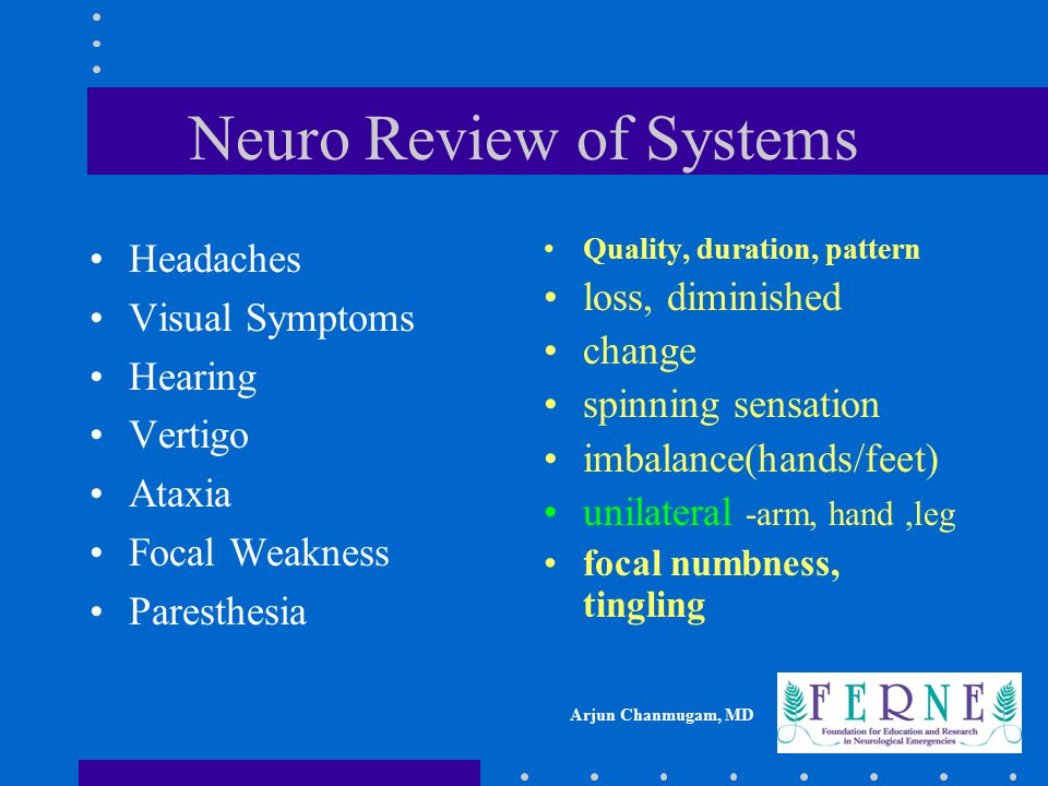 Neuro Review of Systems