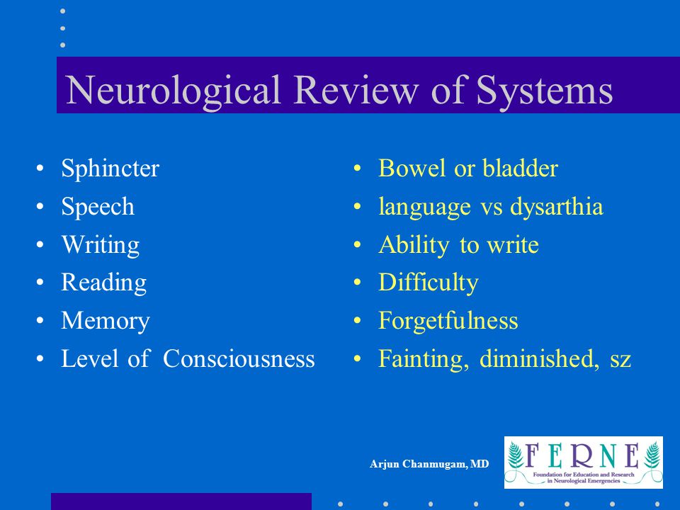 Neurological Review of Systems