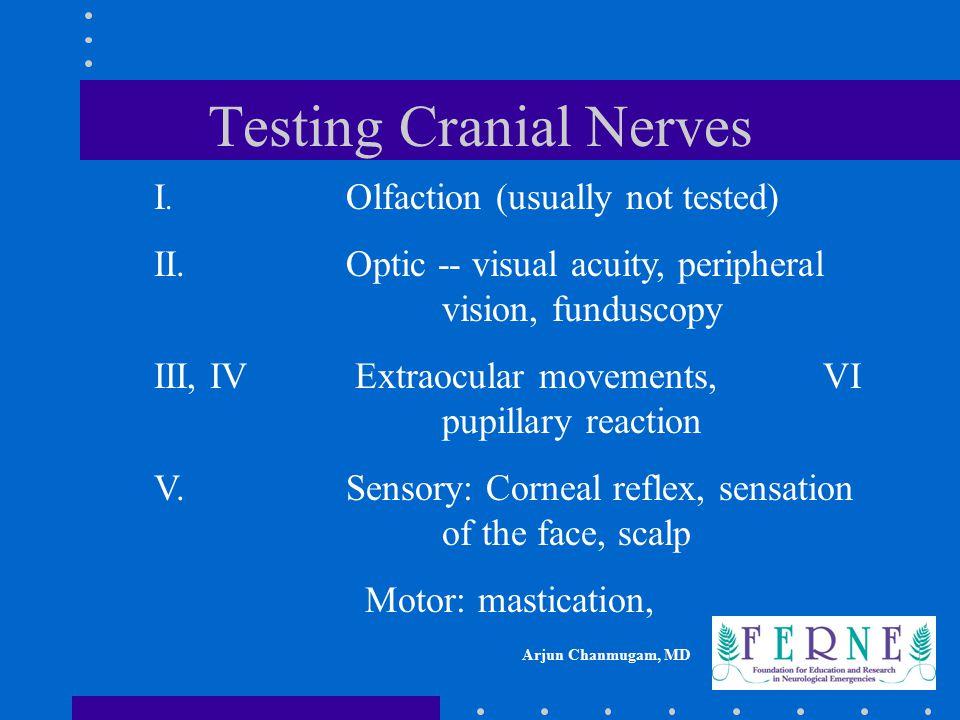 Testing Cranial Nerves