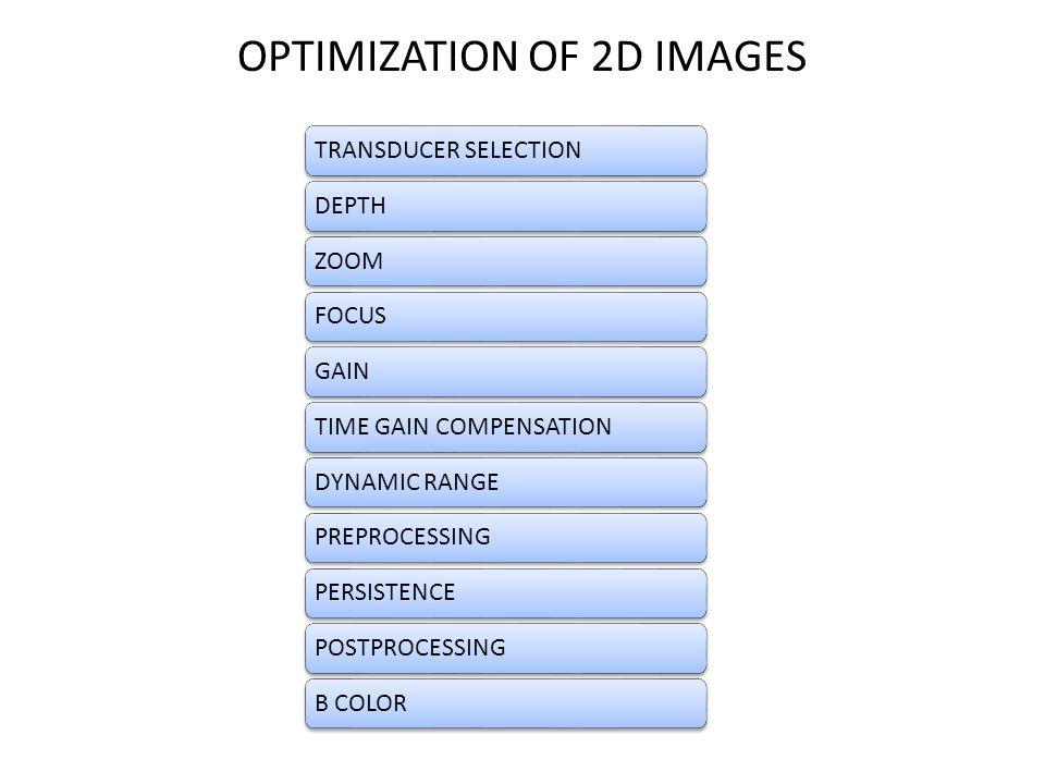 OPTIMIZATION OF 2D IMAGES