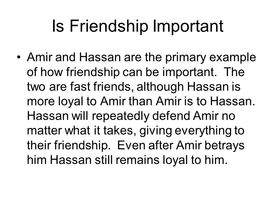 Is Friendship Important