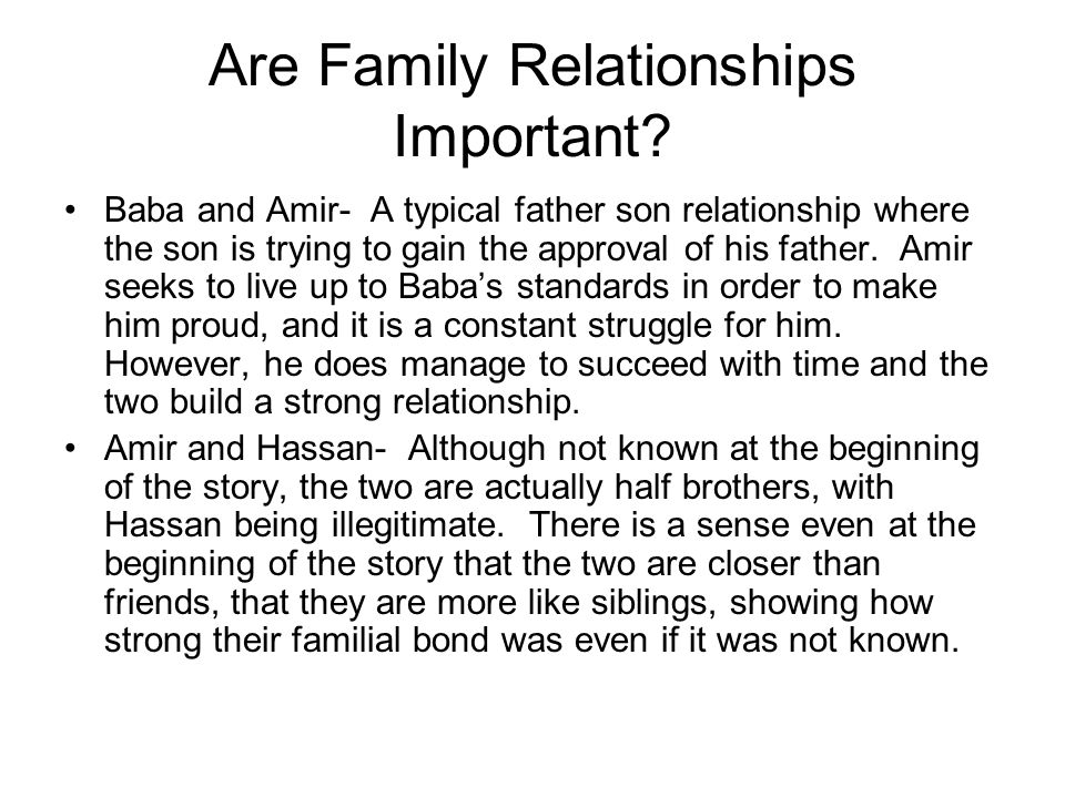 Are Family Relationships Important