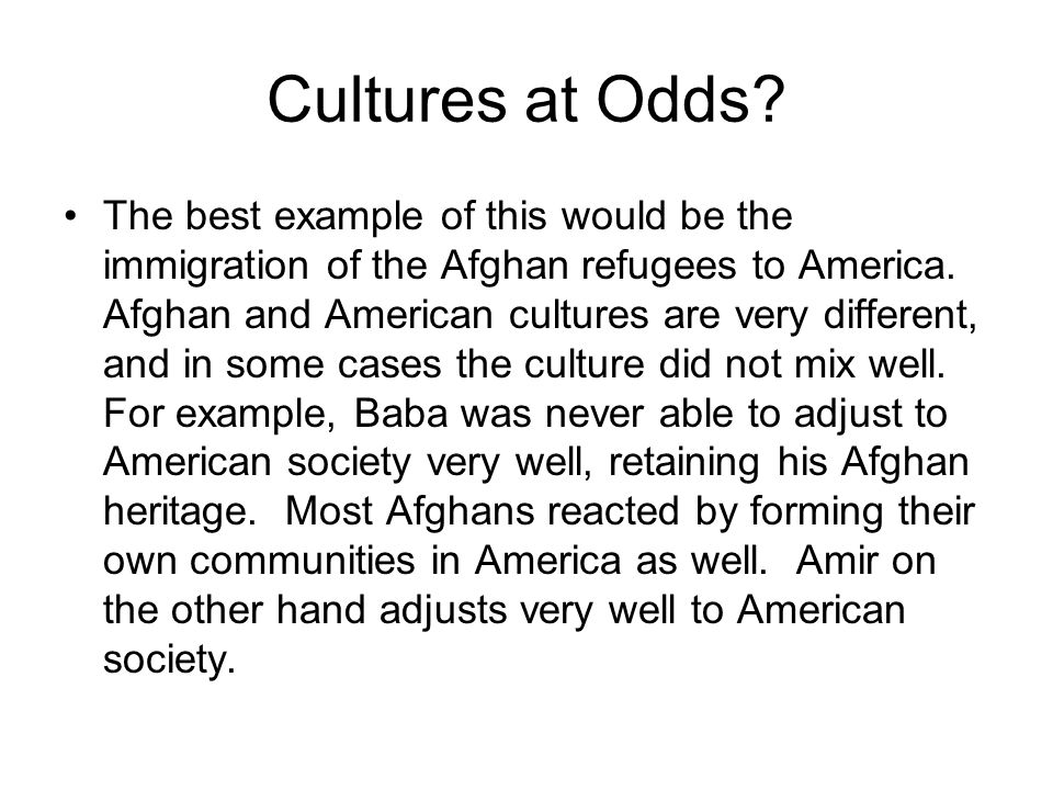 Cultures at Odds