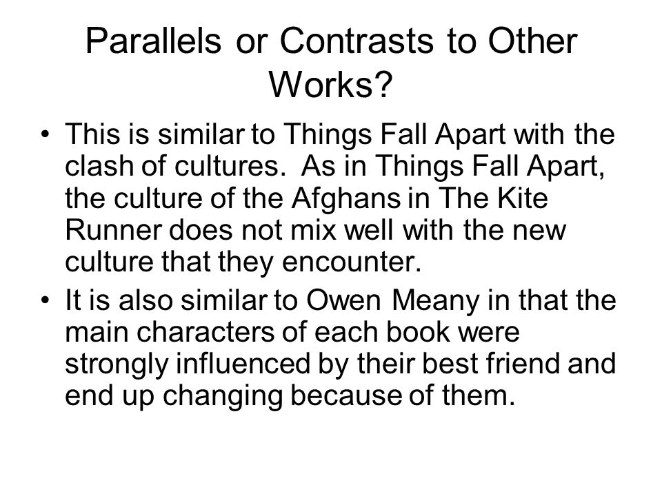 Parallels or Contrasts to Other Works