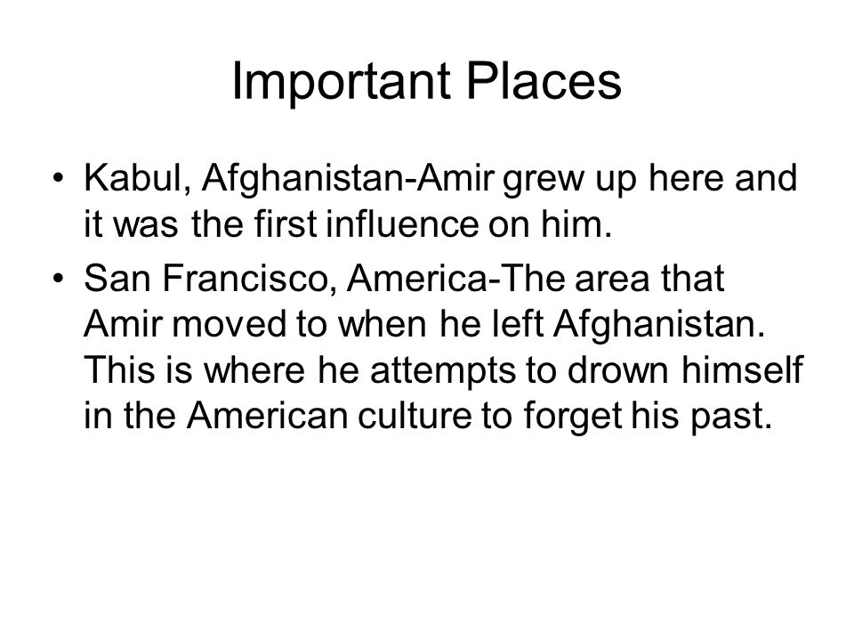 Important Places Kabul, Afghanistan-Amir grew up here and it was the first influence on him.