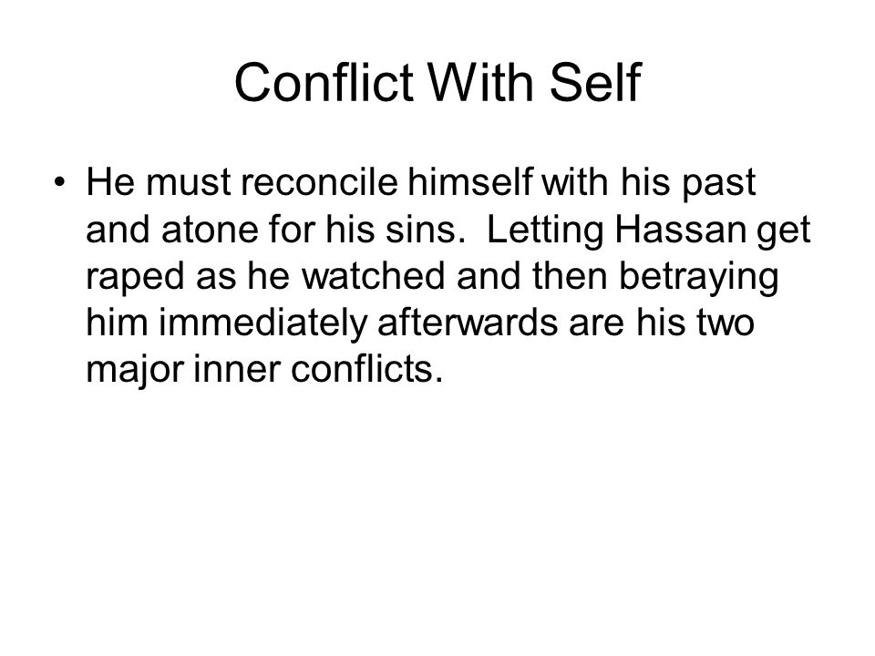 Conflict With Self