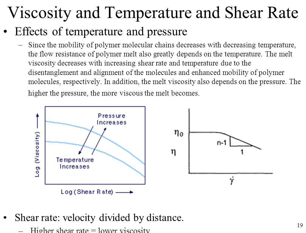 Viscosity and Temperature and Shear Rate
