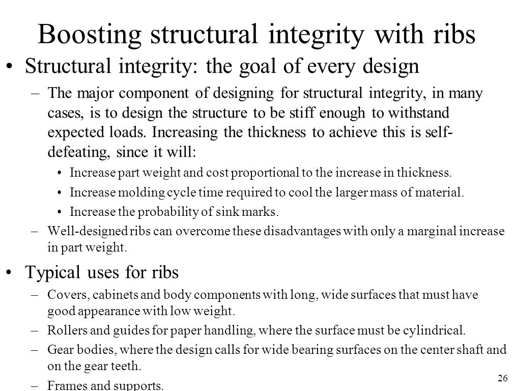Boosting structural integrity with ribs