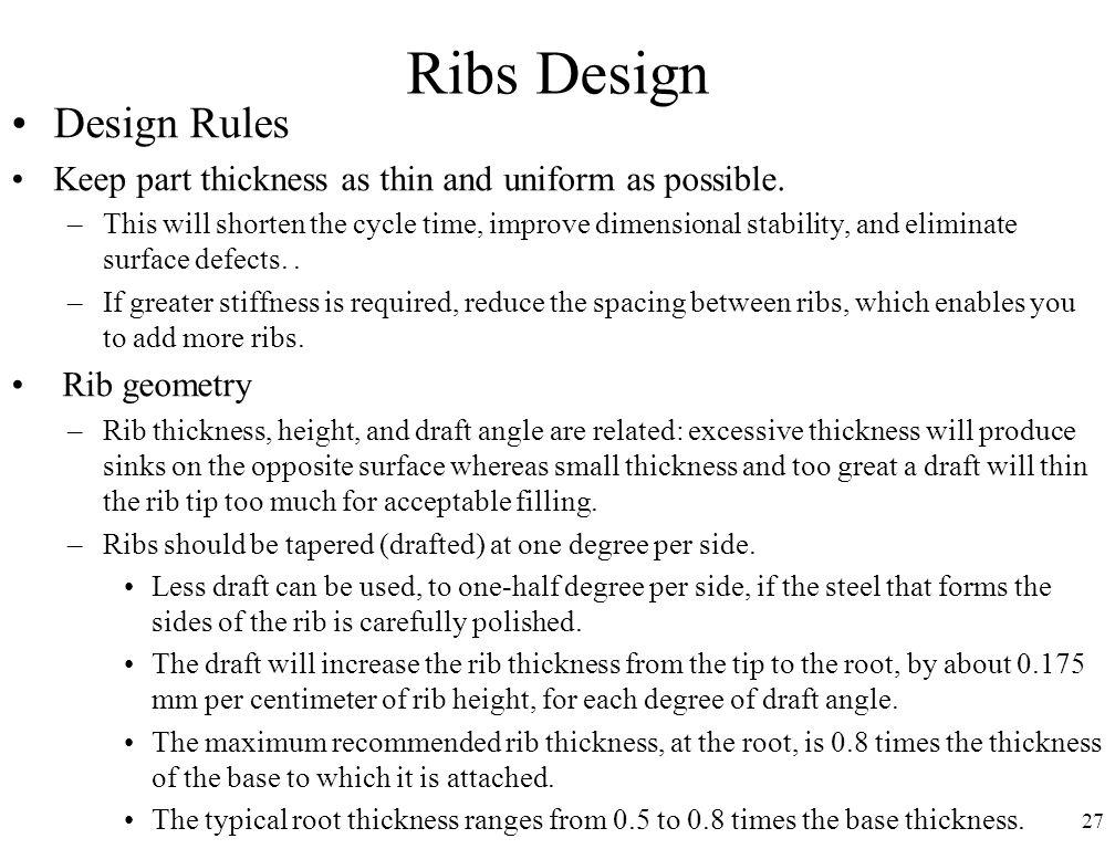 Ribs Design Design Rules