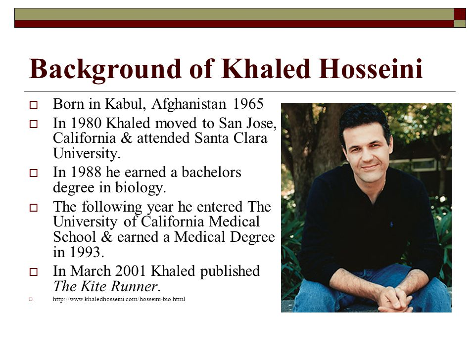 Background of Khaled Hosseini
