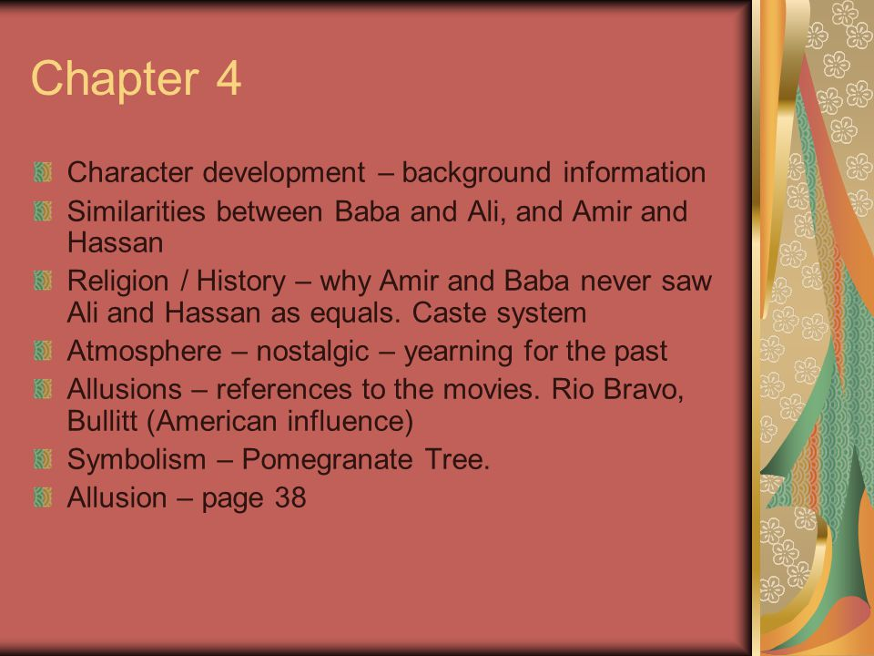 how are amir and baba similar Where his father was assigned a diplomatic post in the  similar or different than  the ironies in amir's first short  5 when baba tells amir that he will not seek.