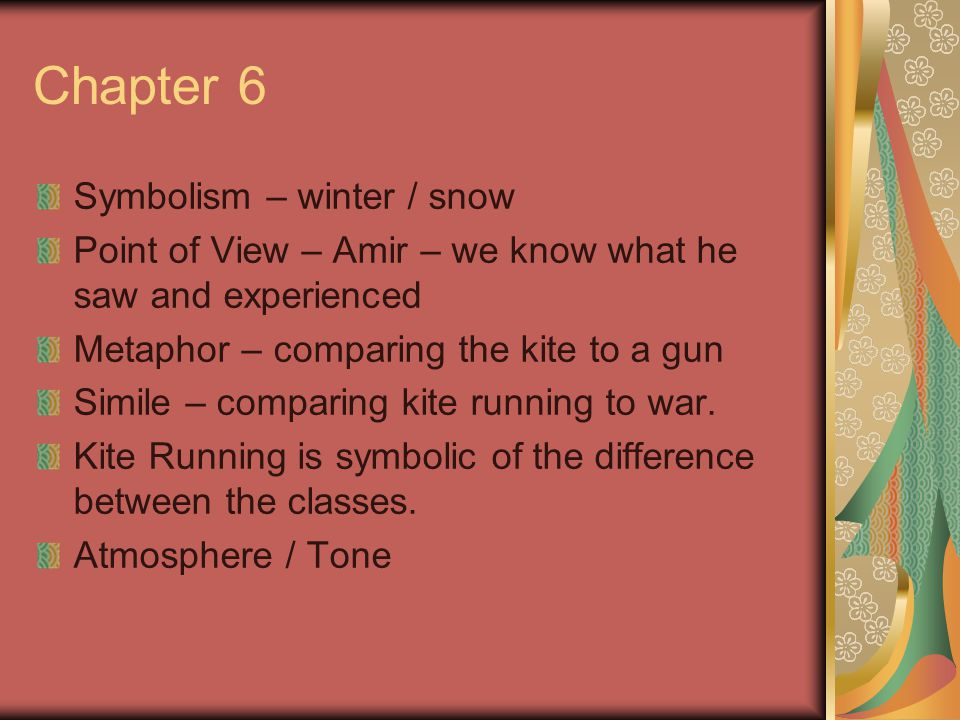 Chapter 6 Symbolism – winter / snow