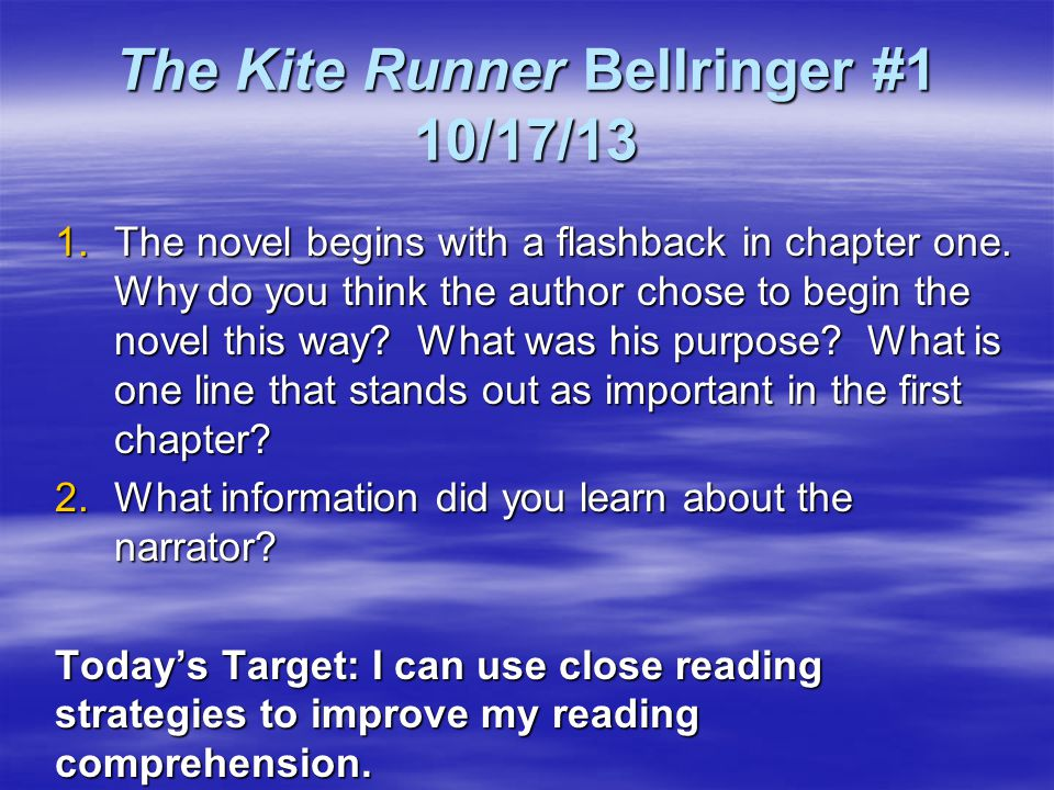 the kite runner 17 essay Open document below is an essay on loyalty in kite runner from anti essays, your source for research papers, essays, and term paper examples.