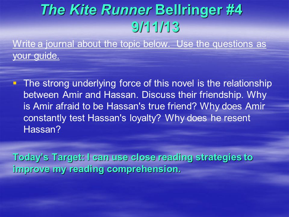 "the kite runner 8 essay Essay topic: the description of how the characters of khaled hosseini's ""the kite runner"" strongly influence each other's lives essay questions:."