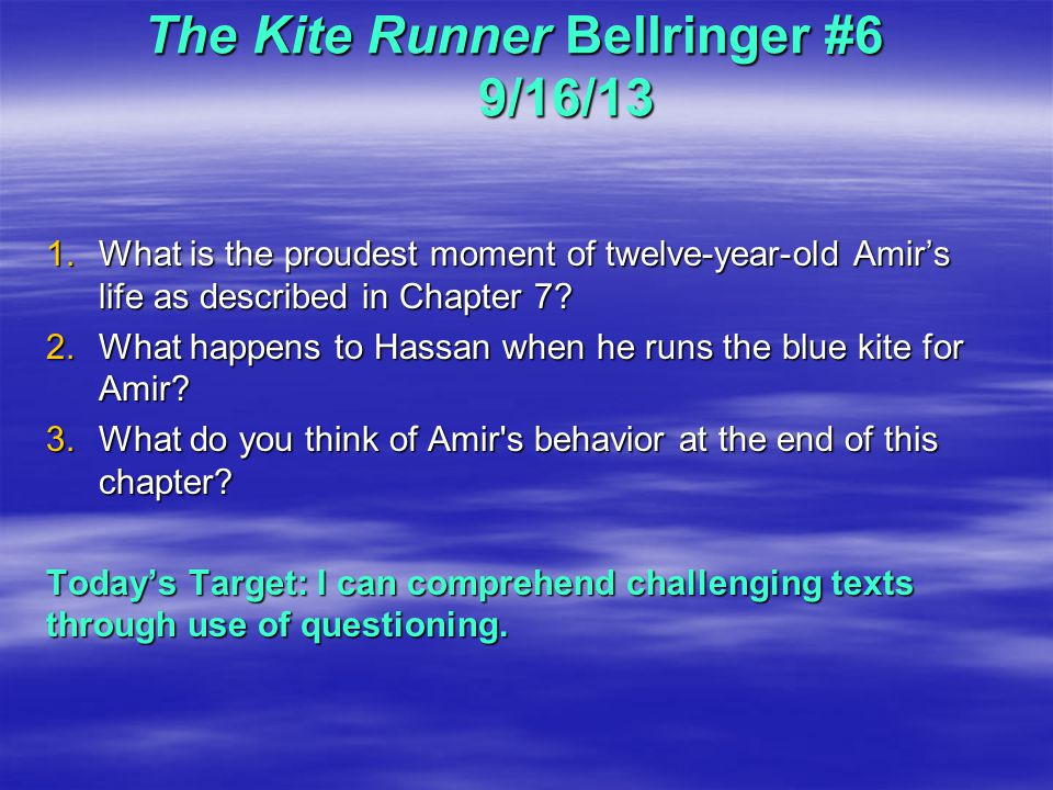 the kite runner 9 essay Critical essays symbols in the kite runner bookmark this page manage my reading list and both of these ideas can be applied to characters and events in the kite.