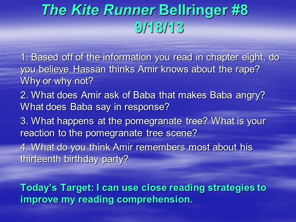 the kite runner response In what ways does khaled hosseini explore the idea that the past is never over in  the kite runner khaled hosseini explores the idea that the past is never.