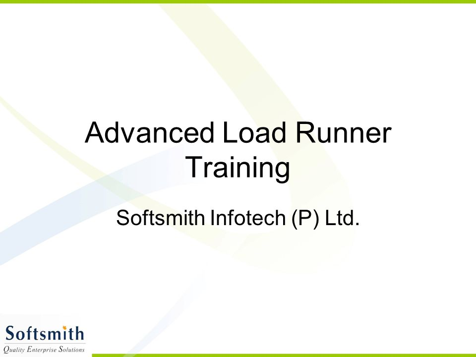 Advanced Load Runner Training