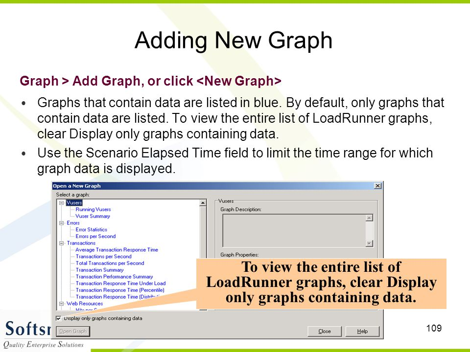 Adding New Graph Graph > Add Graph, or click <New Graph>