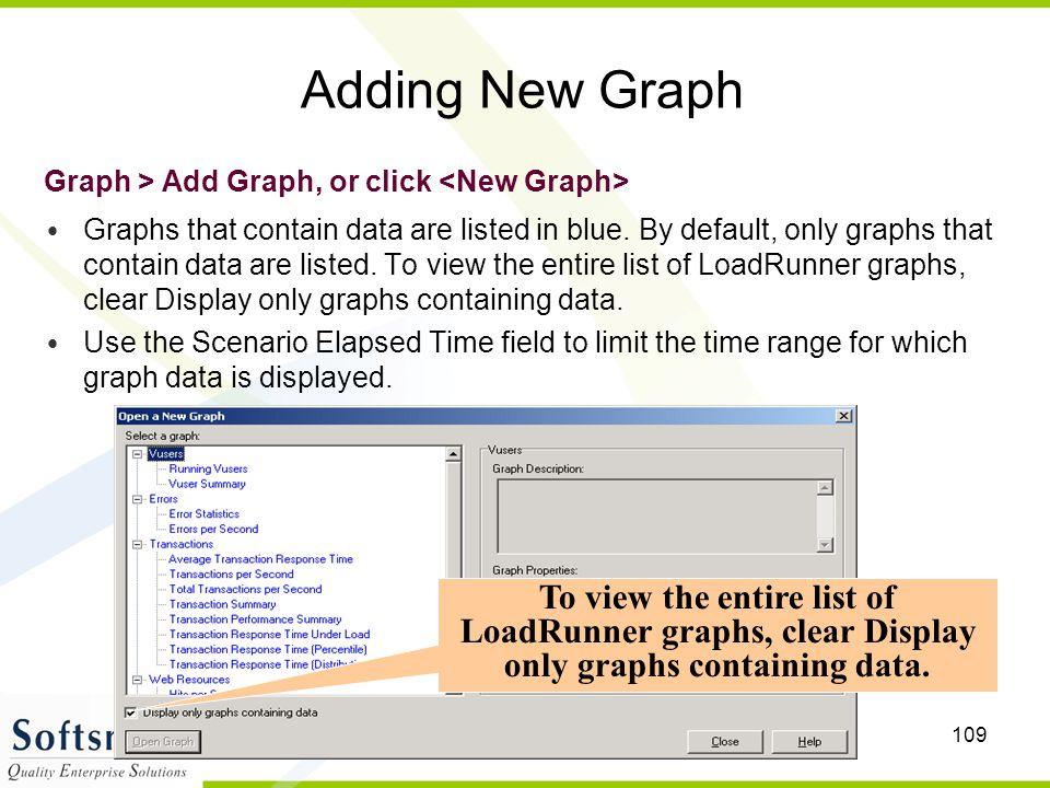 Adding New Graph Graph > Add Graph, or click <New Graph>