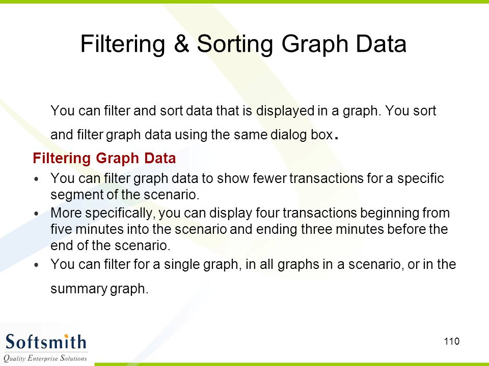 Filtering & Sorting Graph Data