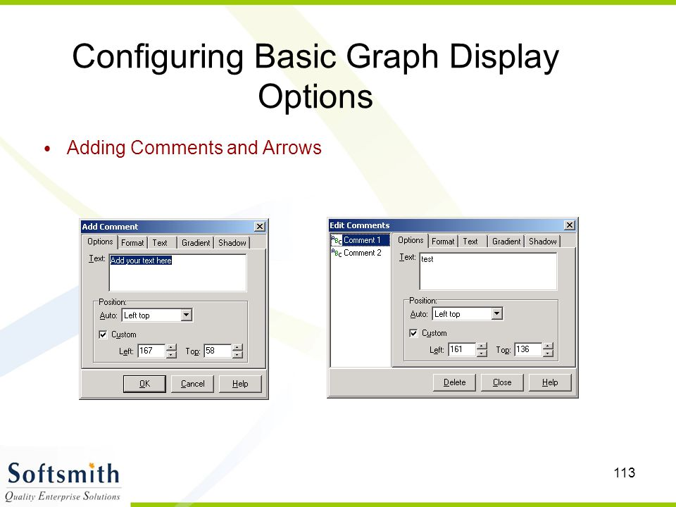 Configuring Basic Graph Display Options
