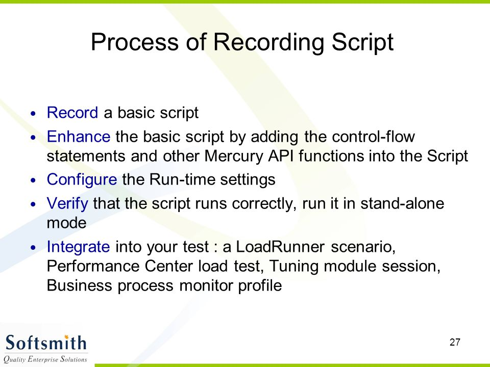 Process of Recording Script