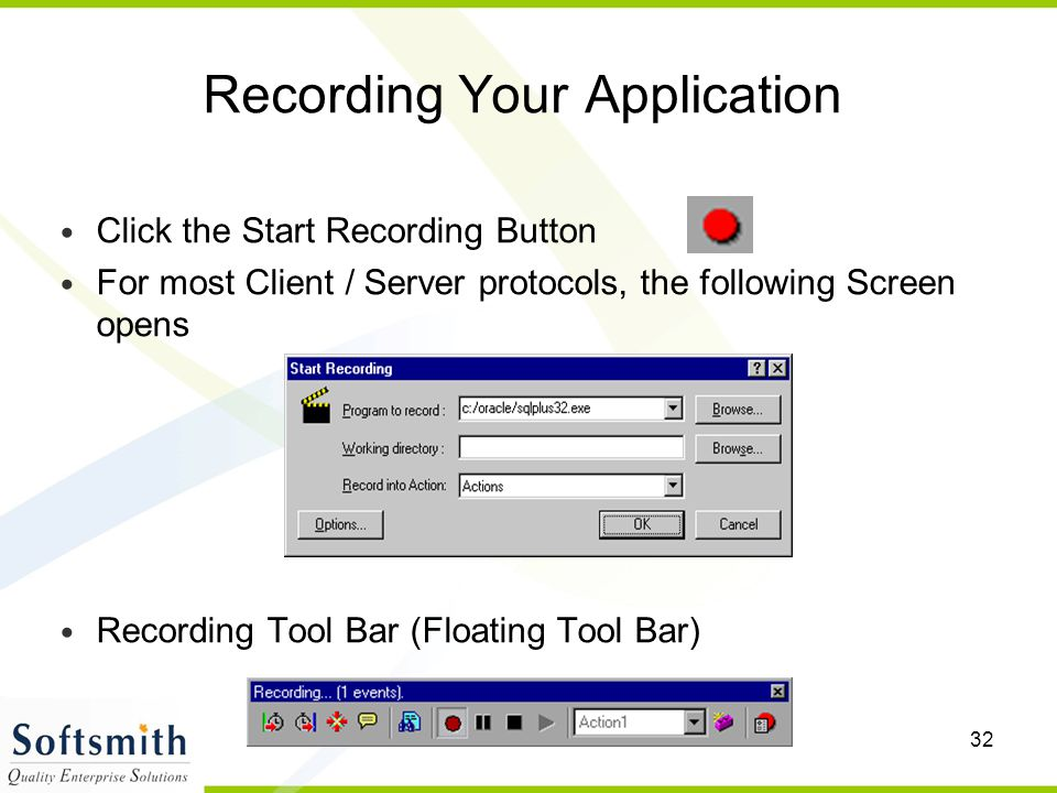 Recording Your Application