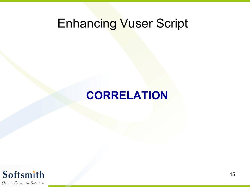 Enhancing Vuser Script