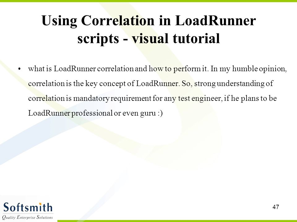 Using Correlation in LoadRunner scripts - visual tutorial