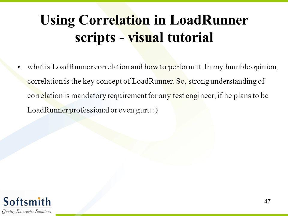 Using Correlation in LoadRunner scripts - visual tutorial