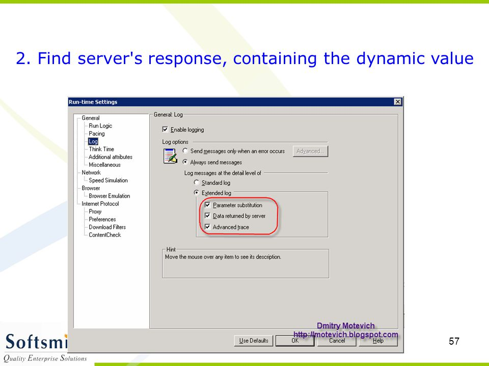 2. Find server s response, containing the dynamic value