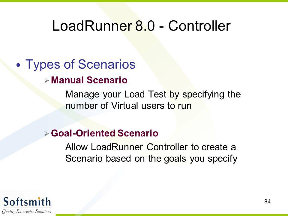 LoadRunner 8.0 - Controller