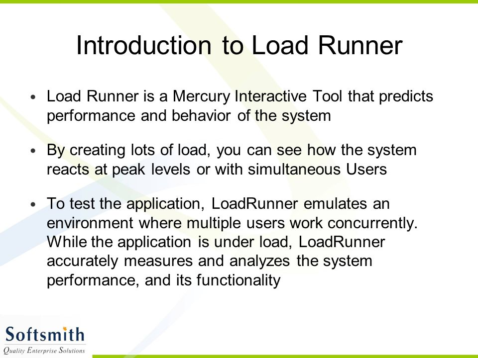 Introduction to Load Runner